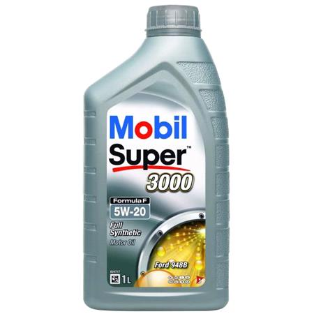 Mobil Super 3000 Formula F 5W 20 Fully Synthetic Engine Oil   1 Litre