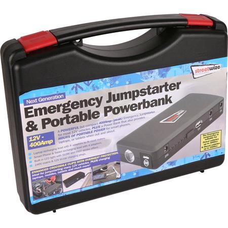 Powerful Jump Starter & Power Bank Set   16800mAh
