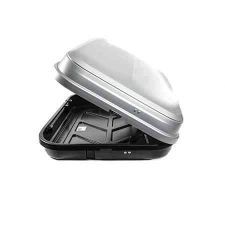 Junior Car Top Roof Box 420L in Gloss Grey Huge Storage