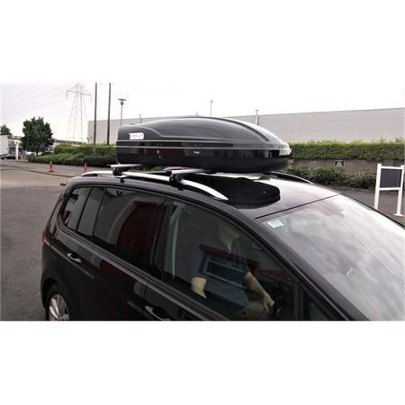 WEGO 450L Black Roof Box, Double side opening