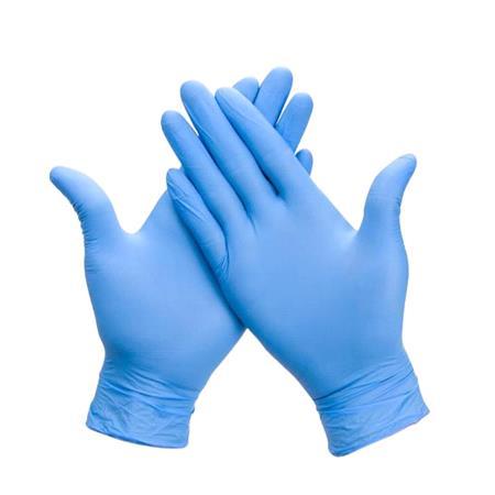 Biodegradable Blue Nitrile Powder Free (Box of 100)   Medium