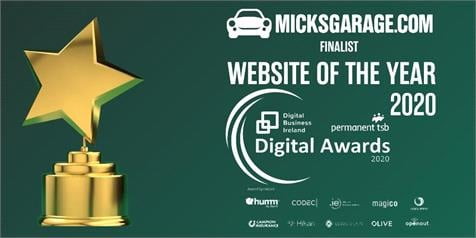 MicksGarage.com Website Of The Year 2020 Finalist