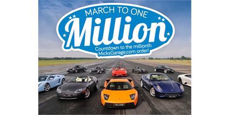Press Release: MicksGarage Reach Milestone With 1 Millionth Order