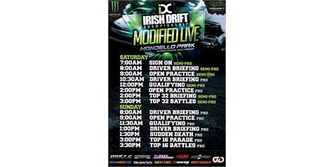 Irish Drift Championship: Round 1 & Modified Live