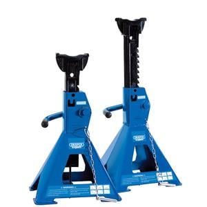 Axle Stands, Draper 01813 Pair of Pneumatic Rise Ratcheting Axle Stands 3 tonne   , Draper