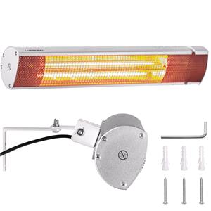 Patio Heaters, UNIPRODO Wall-Mounted Infared Patio Heating Lamp - 2000W, UNIPRODO