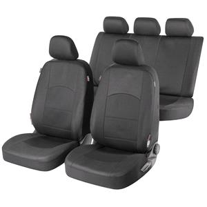 Seat Covers, Walser Premium Zipp-It Derby Car Seat Cover Set - Black for Peugeot 207 Saloon 2007 Onwards, Walser
