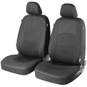 Seat Covers, Walser Premium Zipp-It Derby Front Car Seat Covers - Black For for Peugeot 207 Saloon 2007 Onwards, Walser