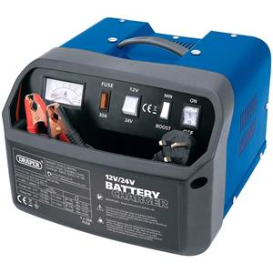 Battery Charger, Draper 11961 12-24V 15A Battery Charger, Draper