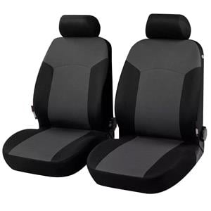 Seat Covers, Walser Portland Front Car Seat Covers - Black & Grey for Peugeot 207 Saloon 2007 Onwards, Walser