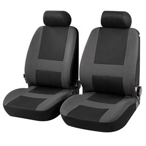 Seat Covers, Pocatello Front Car Seat Covers in Grey & Black - for Peugeot 207 Saloon 2007 Onwards, Car Comfort by Walser