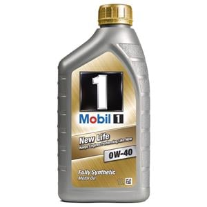 Engine Oils and Lubricants, Mobil 1 NeW- Life 0W-40 Fully Synthetic Engine Oil - 1 Litre, MOBIL