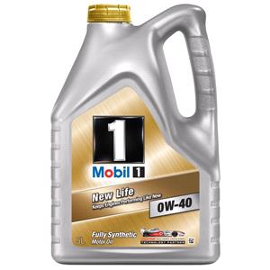 Engine Oils and Lubricants, Mobil 1 New Life 0W-40 Fully Synthetic Engine Oil - 5 Litre, MOBIL