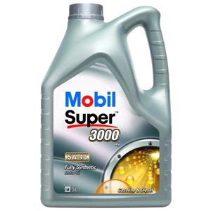 Engine Oils and Lubricants, Mobil Super 3000 X1 5W-40 Fully Synthetic Engine Oil - 5 Litre, MOBIL