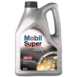 Engine Oils and Lubricants, Mobil Super 2000 X1 10W-40 Semi Synthetic Engine Oil - 5 Litre, MOBIL