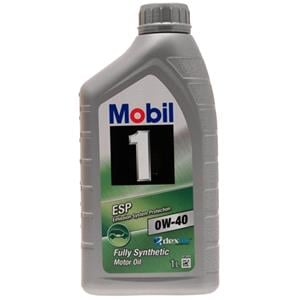 Engine Oils and Lubricants, Mobil 1 ESP Formula 0W-40 Fully Synthetic Dexos 2 Engine Oil - 1 Litre, MOBIL