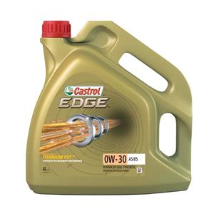 Engine Oils and Lubricants, Castrol Edge 0W-30 A5-B5 Titanium FST Fully Synthetic Engine Oil - 4 Litre, Castrol