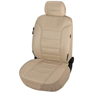 Seat Covers, Walser Zipp-It Billy Beige Leather Front Car Seat Cover For Mitsubishi GALANT 1977-1980, Walser