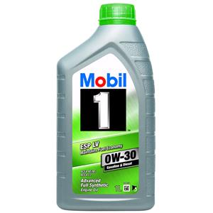 Engine Oils and Lubricants, Mobil 1 ESP LV 0W-30 Fully Synthetic Engine Oil - 1 Litre, MOBIL