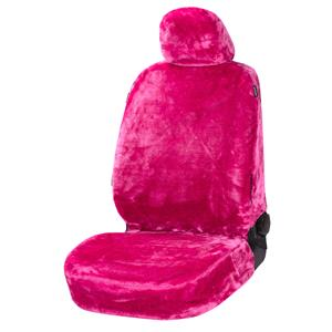 Seat Covers, Walser Teddy Front Car Seat Cover - Pink For Mitsubishi GALANT 1977-1980, Walser
