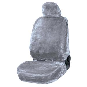Seat Covers, Walser Teddy Front Car Seat Cover - Grey For Mitsubishi GALANT 1977-1980, Walser