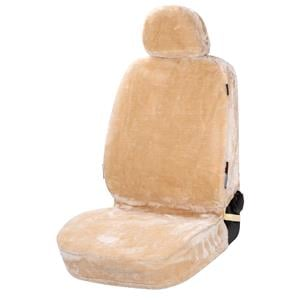 Seat Covers, Walser Teddy Front Car Seat Cover - Beige For Mitsubishi GALANT 1977-1980, Walser