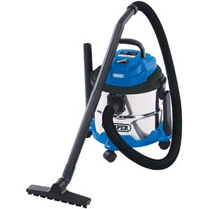 Vacuum Cleaners, Draper 20514 15L Wet and Dry Vacuum Cleaner with Stainless Steel Tank (1250W), Draper