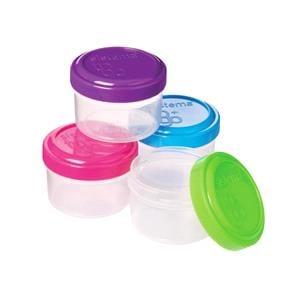 Food Storage, Sistema 35ml Dressing Pots - Pack of 4, Sistema