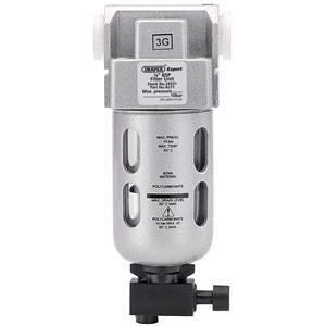 Air Filters, Regulators and Lubricators, Draper Expert 24331 1-4 inch BSP Filter unit, Draper