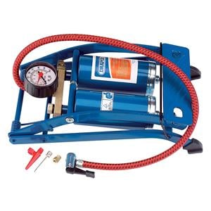 Tyre Inflating Equipment, Draper 25996 Double Cylinder Foot Pump with Pressure Gauge, Draper