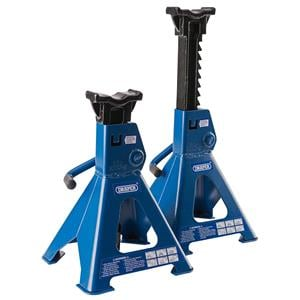 Axle Stands, Draper 30881 3 tonne Ratcheting Axle Stands (Pair), Draper