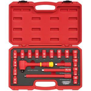 Socket Set, Draper Expert 31057 3-8 inch Square. Drive. VDE Socket Set (19 Piece), Draper