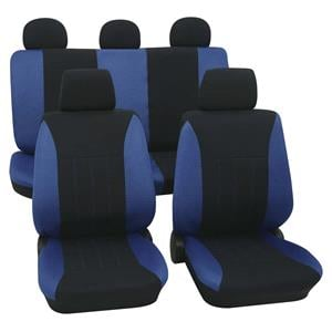 Seat Covers, Blue & Black Car Seat Covers - For Mitsubishi Outlander up to 2007, Petex