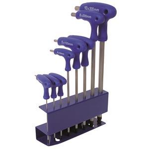 Socket Set, LASER 3333 Hex Key Set - T Handle-Ball End - 8 Piece, LASER