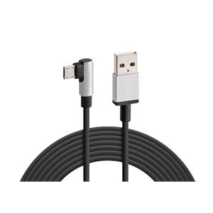 Phone Accessories, Micro USB 90° Angle Charging Cable - 200 cm - Black,