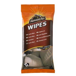Leather and Upholstery, ArmorAll Leather Wipes - Pack of 20, ARMORALL