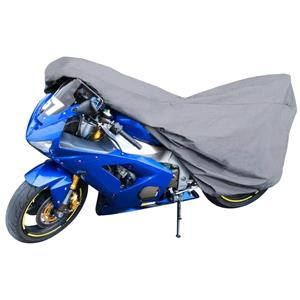 Motorbike and Scooter Covers, Motorbike Cover Grey Size M 215x95x120cm, Walser