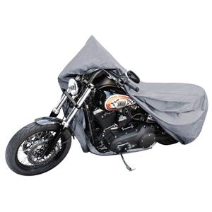 Motorbike and Scooter Covers, Motorbike Cover Grey Size L 250x100x130cm, Walser