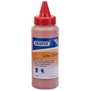Brick Lines and Pins, Draper 42975 115G Plastic Bottle of Red Chalk for Chalk Line, Draper
