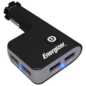 Phone Accessories, Energizer 12V Quad USB In-Car Charger, ENERGIZER