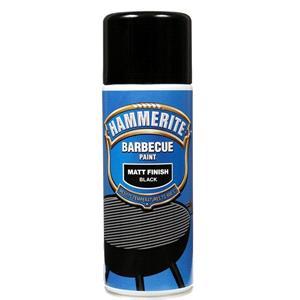 BBQ Accessories, Hammerite BBQ Paint Aerosol - Matt Black - 400ml, Hammerite Paint