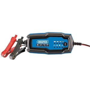 Automotive Battery Care and Chargers, Draper 53488 12V Smart Charger And Battery Maintainer (2A), Draper