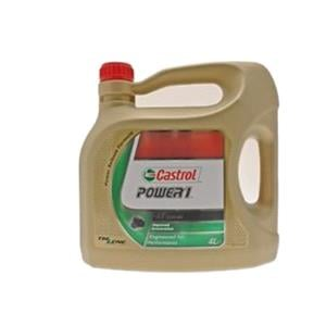 Engine Oils and Lubricants, Castrol Power 1 4T - 4 Stroke - 10W-40 - Semi Synthetic - 4 Litre, Castrol