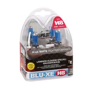 Bulbs - by Bulb Type, 12V Blu-Xe halogen lamp - H8 - 35W - PGJ19-1 - 2 pcs  - Box, Pilot