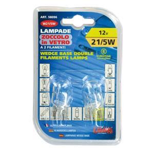 Bulbs - by Bulb Type, 12V Wedge base lamp - W21-5W - 21-5W - W3x16q - 2 pcs  - D-Blister, Lampa