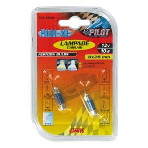 Bulbs - by Bulb Type, 12V Blu-Xe festoon lamp - 8x28 mm - 10W - SV7-8 - 2 pcs  - D-Blister, Pilot