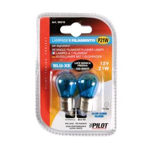 Bulbs - by Bulb Type, 12V Blu-Xe single filament lamp - P21W - 21W - BA15s - 2 pcs  - D-Blister, Pilot
