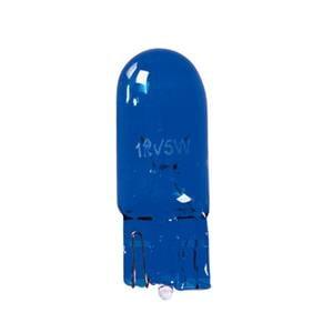 Bulbs - by Bulb Type, 12V Blue Dyed Glass, wedge base lamp - W5W - 5W - W2,1x9,5d - 2 pcs  - D-Blister, Pilot