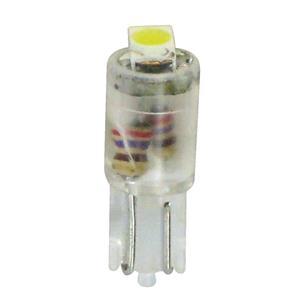 Bulbs - by Bulb Type, 12V Hyper-Led 2 - 1 SMD x 2 chips - (T5) - W2x4,6d - 2 pcs  - D-Blister - White, Pilot
