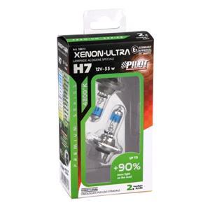 Bulbs - by Bulb Type, 12V Xenon ultra halogen lamp +90 light - H7 - 55W - PX26d - 2 pcs  - Box, Pilot